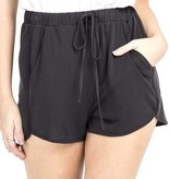 Black Knit Shorts