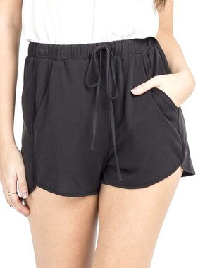 Black Knit Shorts