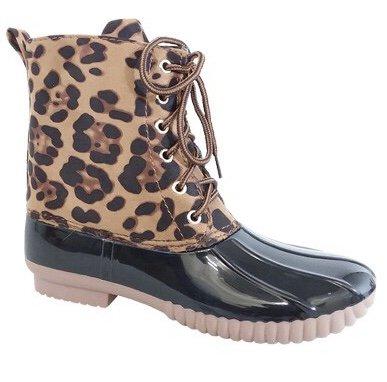 Leopard Duck Boot- SALE ITEM