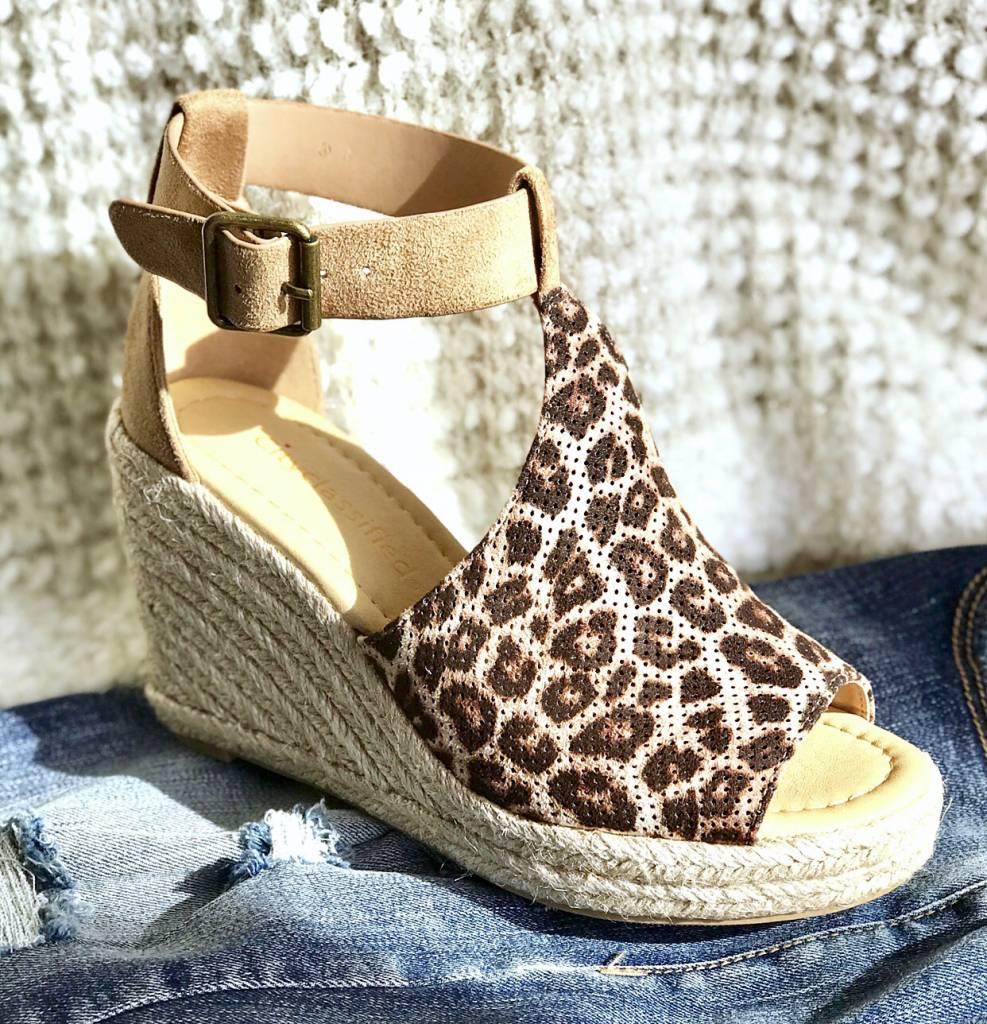 Peep-Toe Wedge Sandal