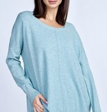 Dusty Green Crew Neck Sweater Top