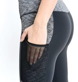 Grey Color Block Pocket Leggings