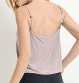 Spaghetti Strap Gathered Peekaboo Top Coral/Navy