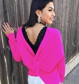Mallory Top with Twist Back Fuchsia