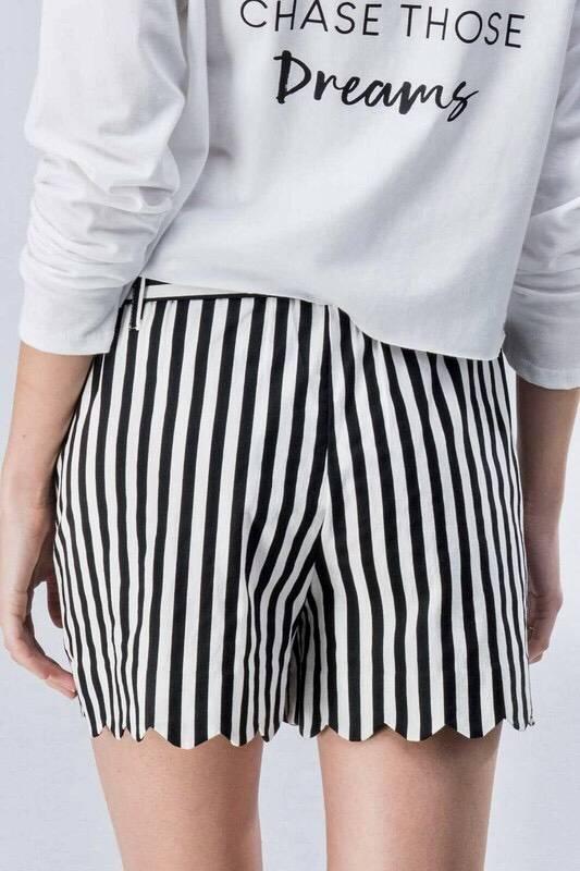 Black Stripe Spring Shorts