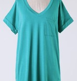 Tiffany Green V-Cut SS Top