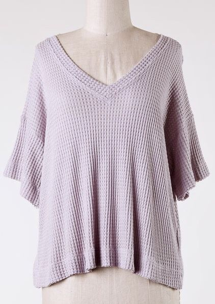 Lilac Dropped Shoulder SS Top