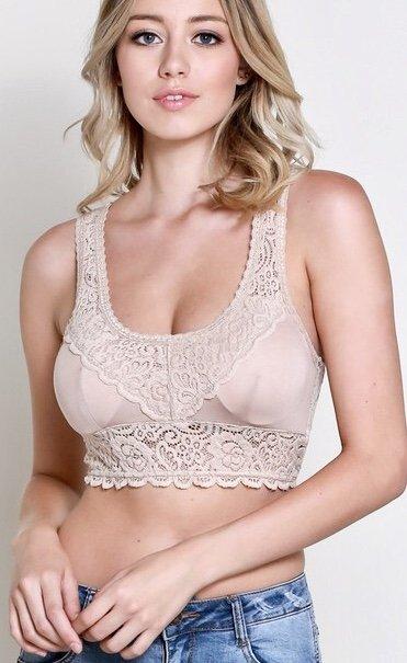 Leila Padded Bralette Nude