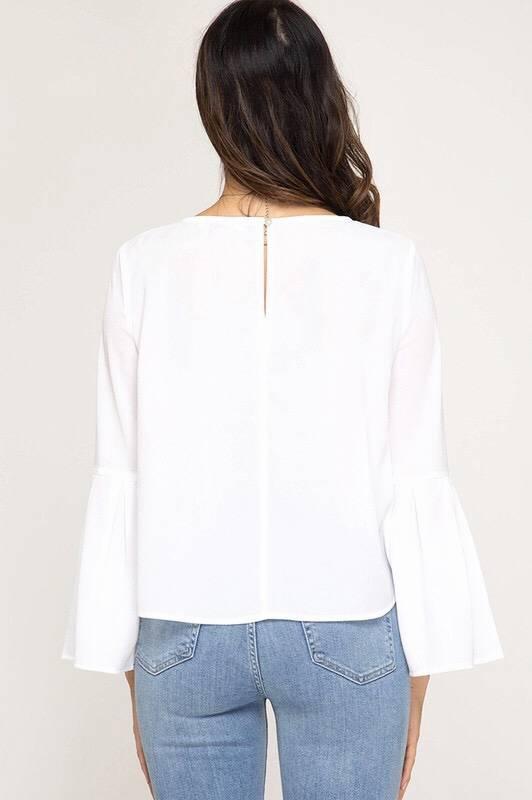 Cream Bell Sleeve LS Top