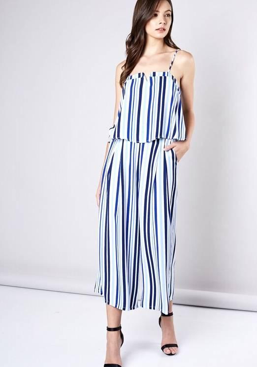Navy/Blue Striped 2 Piece Set