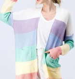 Light Multi Striped LS Cardigan