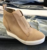 Zoey Wedge Bootie Oatmeal