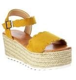 Emma Mustard Platform Sandal