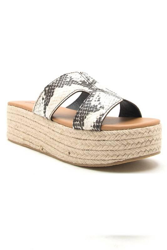 Beachie Platform Sandal Snake