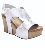 Tracie Silver Wedge Shoe