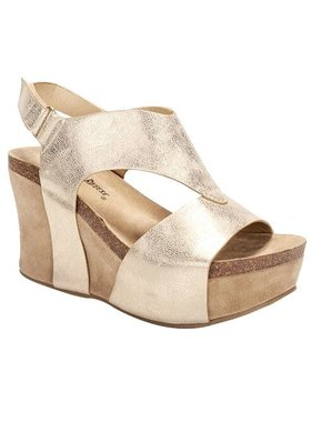 Tracie Gold Wedge Shoe