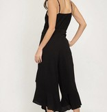 Black Cami Jumpsuit With Front Tie