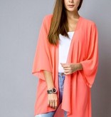 Neon Coral Kimono