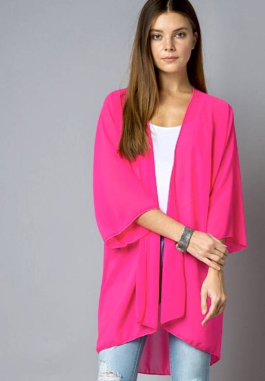 Neon Pink Kimono
