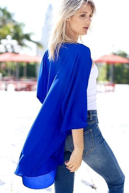 Neon Royal Blue Kimono