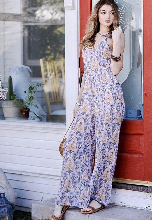 Baby Pink Floral Ruffle Sleeve Jumpsuit