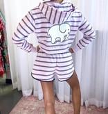 Amethyst Striped Shorts