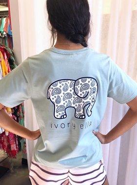 Pistachio Purple Paisley Elephant T-Shirt