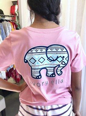 Rose Quartz Short Sleeve Tribal T-Shirt