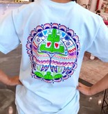 Sky Blue Colorful Cactus T-Shirt