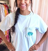 Sky Blue Small Town Beach Hippie T-Shirt