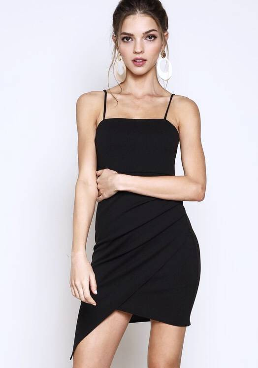 Black Knit Cami Dress