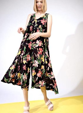 ff00927e2142 Black Floral Sleeveless Flowy Jumpsuit