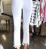 Sneak Peek White Pom Pom Cropped Jean