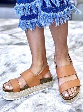 Peyton Saddle Platform Sandal