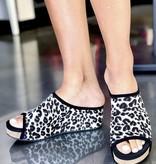 Lola Leopard Wedge Slide
