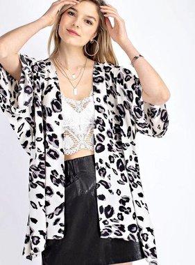 Cream Leopard Kimono