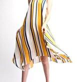 Mustard Striped Flowy Dress