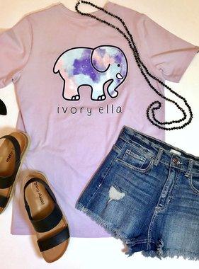 Amethyst SS Aquarelle Elephant T-Shirt