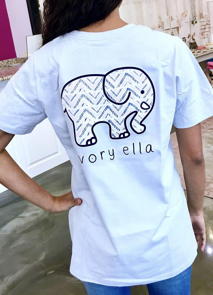 Moonstone Chevron Elephant SS T-Shirt