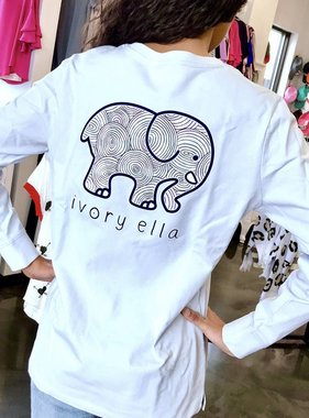 Moonstone LS Ripples Elephant T-Shirt
