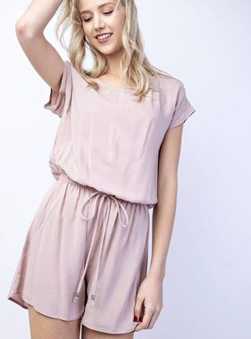 Dusty Pink Cinched Waist Romper