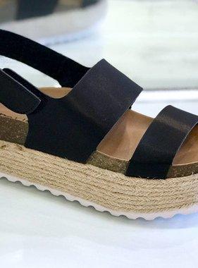 Peyton Black Platform Sandal