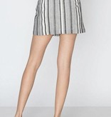 Charcoal and White Striped Button Detail Skirt