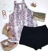 Black Mini Wrap Shorts