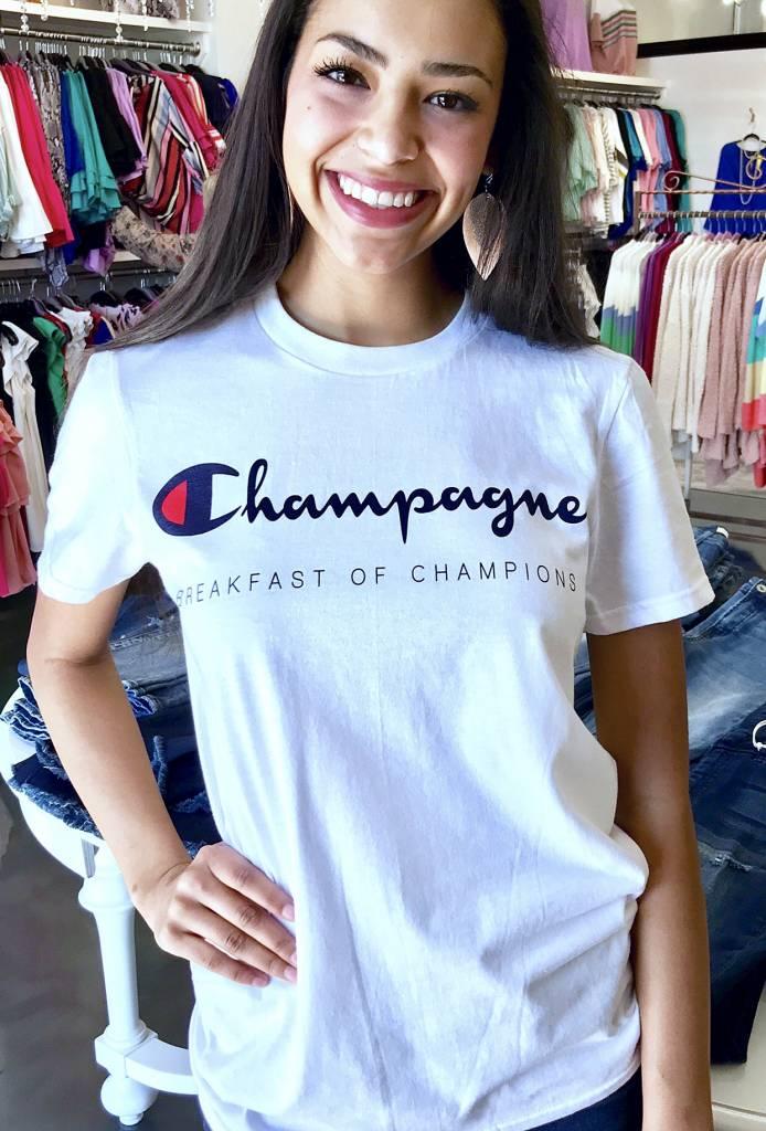 White Champagne SS Tshirt