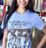 Denim Happy Place Cows T-Shirt