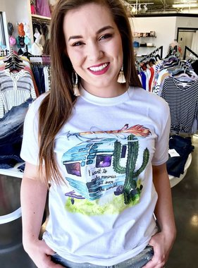 White Making Memories All Over the Wold T-Shirt