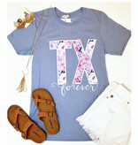"Baby Blue Floral ""TX"" T-Shirt"