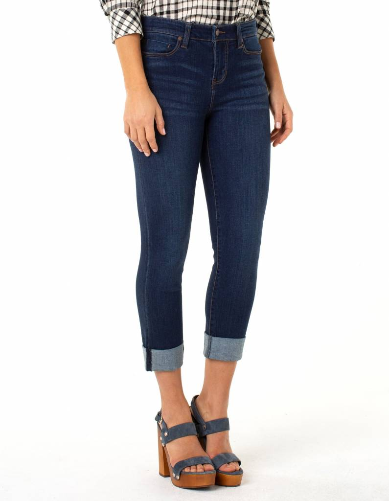 Charlie Crop Wide Rolled Cuff Capri- More Colors