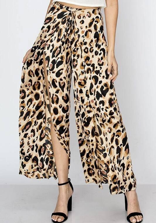 Leopard Overlay Pants